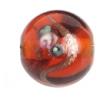 Glass Lamp Bead 12mm Round Dark Topaz/Rose